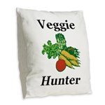 Veggie Hunter Burlap Throw Pillow