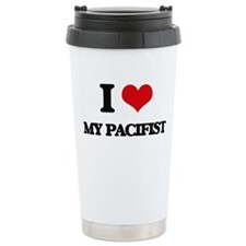 I Love My Pacifist Travel Mug