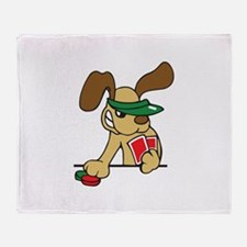 POKER DOG Throw Blanket