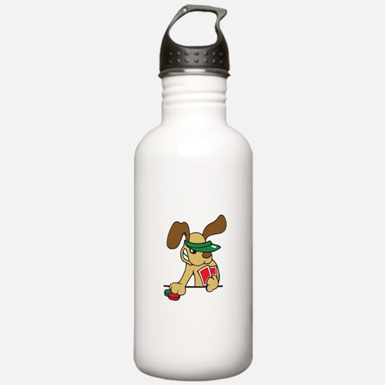 POKER DOG Water Bottle