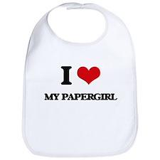I Love My Papergirl Bib