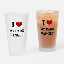 I Love My Park Ranger Drinking Glass