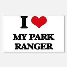 I Love My Park Ranger Decal