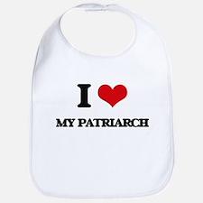 I Love My Patriarch Bib