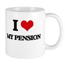 I Love My Pension Mugs