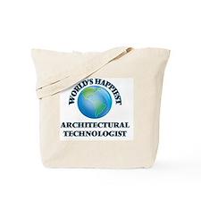 World's Happiest Architectural Technologi Tote Bag