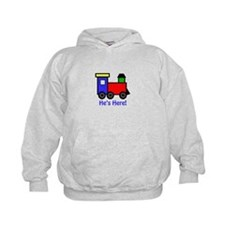 HES HERE APPLIQUE Hoodie