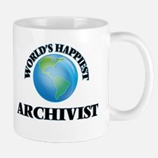 World's Happiest Archivist Mugs