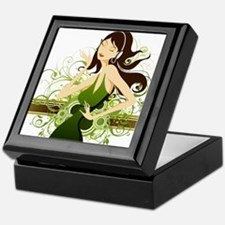 Fashion girl graphic Keepsake Box