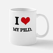 I Love My Ph.D. Mugs