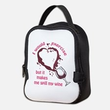 EXERCISE AND SPILLED WINE Neoprene Lunch Bag
