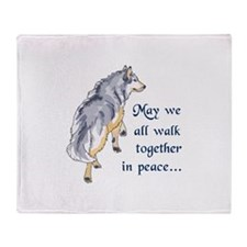 WALK TOGETHER IN PEACE Throw Blanket