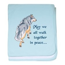 WALK TOGETHER IN PEACE baby blanket