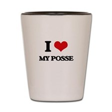 I Love My Posse Shot Glass