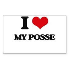 I Love My Posse Decal