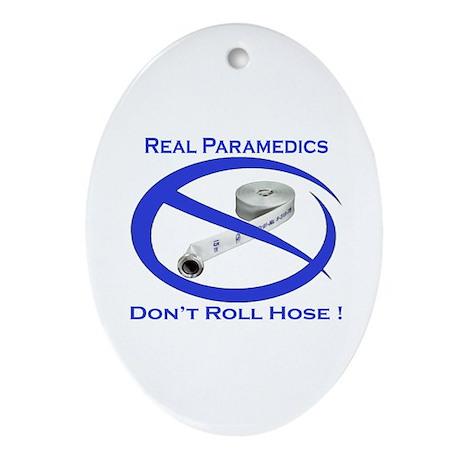 Real Paramedics Oval Ornament