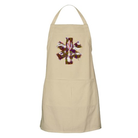 Star Of Life Color BBQ Apron