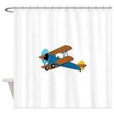 VINTAGE BIPLANE Shower Curtain