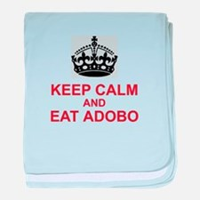 Keep Calm and Eat Adobo baby blanket