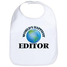 World's Happiest Editor Bib
