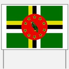 The Commonwealth of Dominica flag Yard Sign