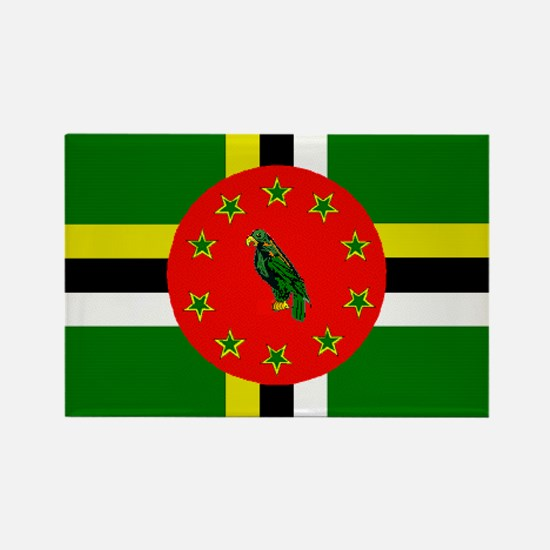 The Commonwealth of Dominica flag Magnets