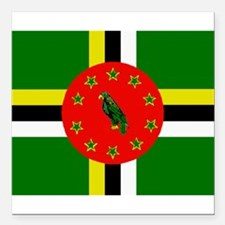 The Commonwealth of Dominica flag Square Car Magne