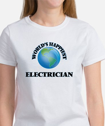 World's Happiest Electrician T-Shirt