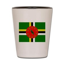 The Commonwealth of Dominica flag Shot Glass