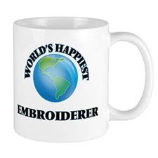 World's Happiest Embroiderer Mugs