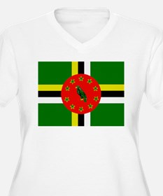 The Commonwealth of Dominica flag Plus Size T-Shir