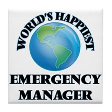 World's Happiest Emergency Manager Tile Coaster