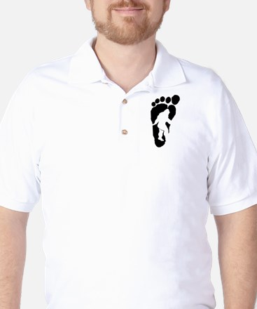 Bigfoot print Golf Shirt