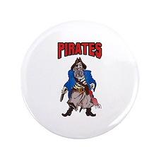 """PIRATES MASCOT 3.5"""" Button"""