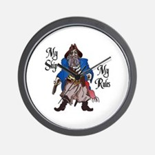 MY SHIP MY RULES Wall Clock