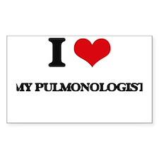 I Love My Pulmonologist Decal