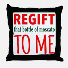 Funny Wine takes right out me Throw Pillow
