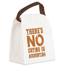 No Crying Canvas Lunch Bag