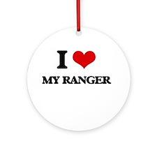 I Love My Ranger Ornament (Round)