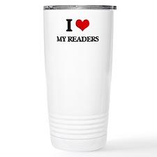 I Love My Readers Travel Coffee Mug