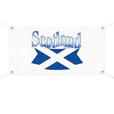 Scottish flag ribbon Banner