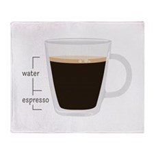 Water Espresso Throw Blanket