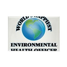 World's Happiest Environmental Health Offi Magnets