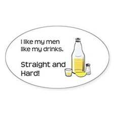 STRAIGHT AND HARD Decal