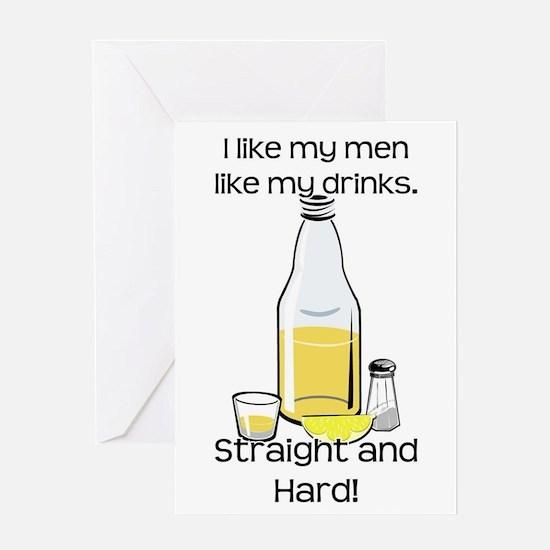 STRAIGHT AND HARD Greeting Card