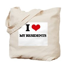 I Love My Residents Tote Bag