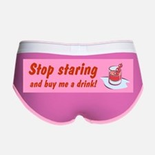 STOP STARING AND BUY ME Women's Boy Brief