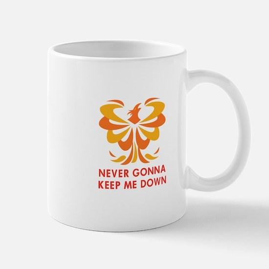NEVER KEEP ME DOWN Mugs
