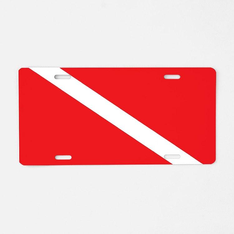 scuba32.png Aluminum License Plate