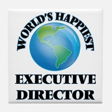 World's Happiest Executive Director Tile Coaster
